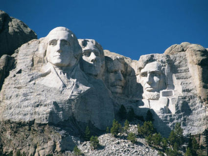 Washington, Jefferson, Roosevelt e Lincoln