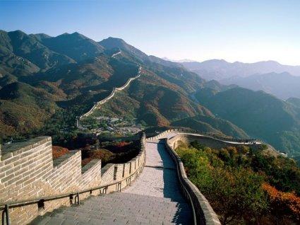 muro, grande, vista, luna, della, terra, difesa