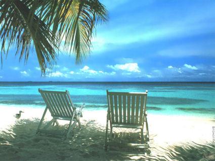 mare paradiso, spiaggia, sdraio, due sulla riva, ricerca, sereni, angolo solitario, dedicato, due persone, momenti