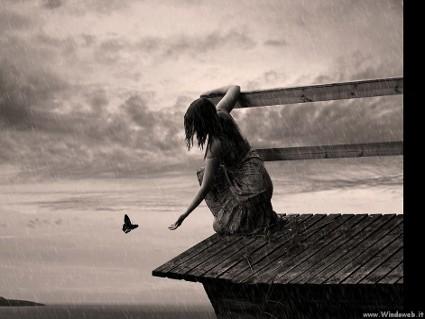 farfalla, ragazza, passione, amore, salvare, tempesta, fragile, bagnare, ali