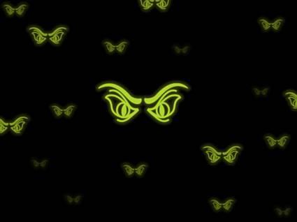 sguardo, impressione, verde, fluorescente