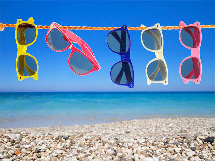 sole, occhiali, fashion, mare, filo, asciugare