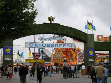 oktoberfest, festa, germania, monaco, ingresso, benvenuti, birra, octoberfest, fest