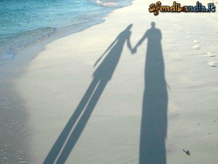cartoline amore, ombre amorevoli, immagini amore, sentimento amore, mare, spiaggia, passeggiata, lungomare