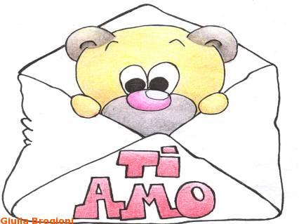 orso, cartoline san valentino, amore, ti amo, messaggio, lettera, orsetto, coccole, tenerezza