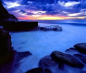 tramonto sui ghiacci, ghiacciai, ghiaccio, tramonto, blu, aurora boreale, polo nord, freddo, neve, paesaggio lunare, rocce