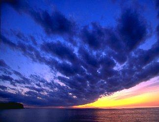 separazione, nuvole, sereno, curvilinea, aurea, aurora, est, tramonto, ovest, sorgere