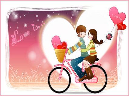 amore, giro, passione, bimbi, cartoni, animato, passeggio