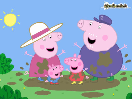 peppa, george, papa, mamma, pig, maialini, cartone, mito