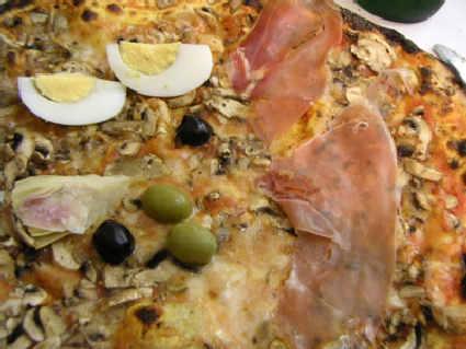 prosciutto, salame, olive, funghi, fungo, uovo, tuorlo, albume, sodo, carciofi