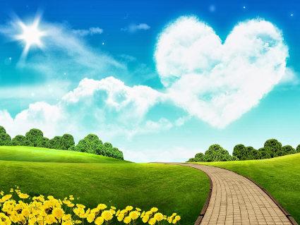 cuori, nuvole, amore, sentimento, attrazione, natura, stelle, sole