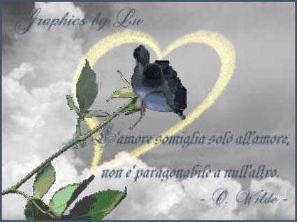 cartoline oscar wilde, solo amore, aforisma, rosa blu, cuore, oro, cartoline d'amore, love, sentimento, fidanzato, compagno, marito, moglie