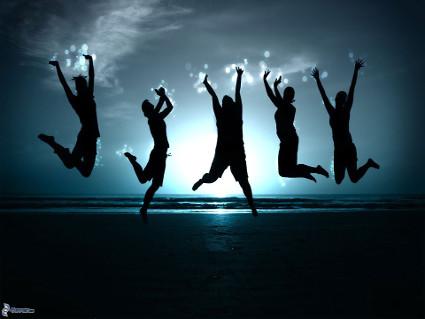 Invia Salti di gioia come cartolina su facebook e whatsapp