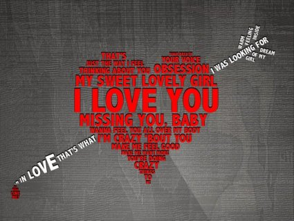 cartoline romantiche, scritte, cuore, amore, inglese, ti amo, i love you, freccia, dardo innamorato