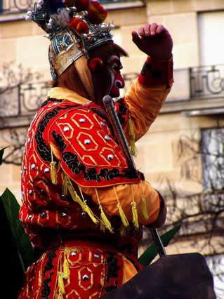 maschera, cinese, capodanno, festeggiamenti, festa, 22, gennaio