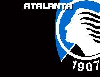 squadra bergamo, tifo nero, azzurro, cartolina atalanta, team atalanta