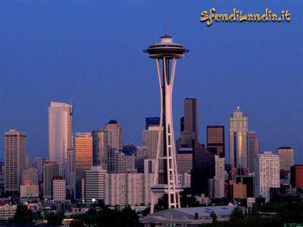 skyline, city, washington, stato, america, USA, palazzi, vetro, cemento armato, grattacielo