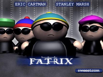 matrix, fatrix, south park, cartoni