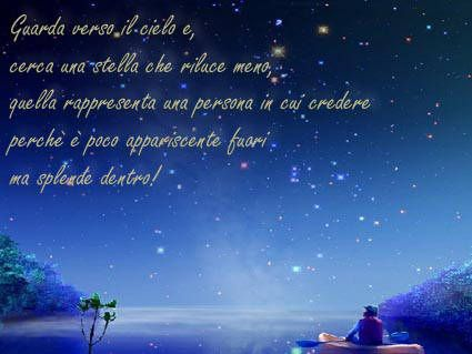 stella, persona, lucente, brilla, dentro, colore, buio, sogni, credere, credo, sentire, mms, sms, inviare, logo