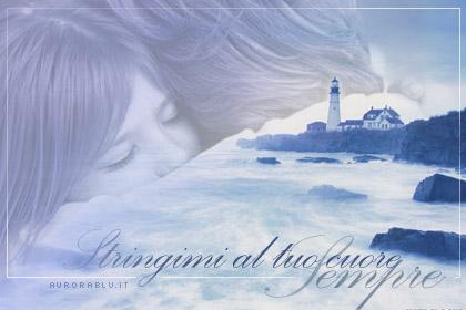 cartolina amore, sentimento, abbraccio, amore al faro, mare, scogli, cartolina sentimento