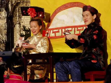 capodanno, carro, cinese, cinesi, attori, maschere, festeggiamenti