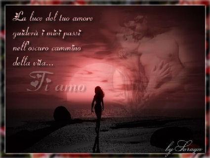 luce, cartoline amore, tuo, guida, guiderà , oscuro, cammino, vita, amare, sentimento, piedi, nudi, sabbia