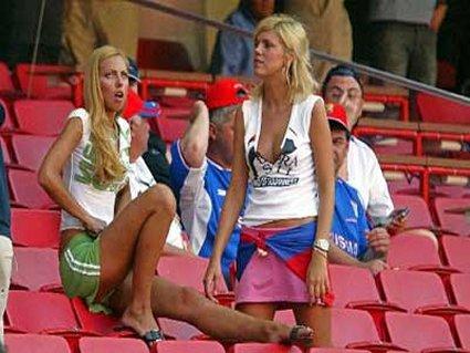 cartolina tifo, bandiera, bionde, ragazze, tifose, attesa, stadio