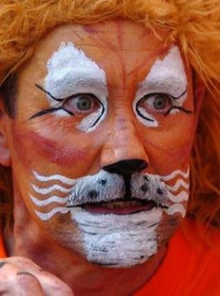 cartoline tifo, Supporter, Arancioni, Orange, sfida, italia, pantera, tigre, leone, spalti, colori
