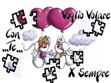 affetto, uniti, ali, sogno, cielo, etereo