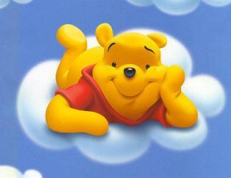 cartoline Winnie the pooh, winnie, tigro, cartoline orsetto, nuvola, pelouches
