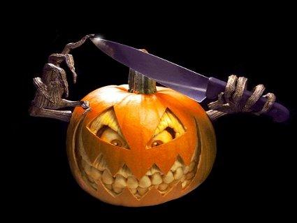cartolina halloween, zucca, paura, terrore, ferire, uccidere, streghe, travestiti, dolcetto o scherzetto