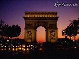 arco, realizzato, vittorie, commemorazione, Napoleone Bonaparte, luci, notte campi, elisi, battaglia, moto, auto, tutti