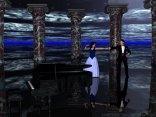 cartoline ballo, danzare, pianoforte, spartiti, passo a due, danza, damigella, cavaliere, portico, colonne
