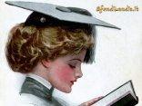 interesse, studio, laurea, cappello, serietà, trucco, labbra, vestito, libro