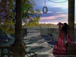 aspettare, arrivo, marito, ansia, cenare, notte, passione, preparare, vialetto, casalinga, bicicletta, cariola, vasi, scivolo