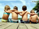 bambini, mare, giochi, affetto, marachelle