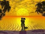 cartoline baci, spiaggia, rena, sabbia rossa, mare, calmo, sereno, nuvoloso