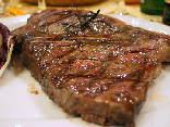 bistecca, carne, cottura, taglio, alto, vitellone di razza chianina o maremmana