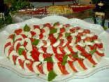 pomodori, mozzarella, basilico, piatto, estivo, fresco, contorno, unico