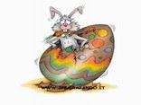 cartoline coniglio pasquale, sorpresa, uovo, pasqua, cioccolato, festa