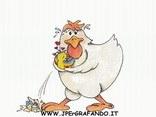 cartolina uovo di pasqua, gallina, pulcino, Pasqua, sorprese, festa resurrezione