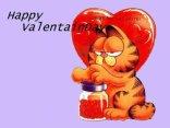 cartoline grafield, auguri, san valentino, amore, cuore, tenerezza, gattone
