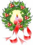 natale, decorazioni, ghirlanda, candele, regali, festa