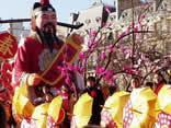 festa, colori, cinese, capodanno, ombrelli, gialli