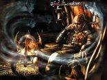 leggi, leggere, pensiero, demone, diavolo, candele, anima, volto, femminile, pensieroso