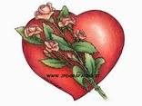 cuore, amore, rose rosse, dono, regalo, affetto, cartoline romantiche