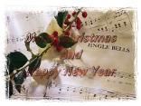 simboli, vischio, spartito, jingle bells, musica