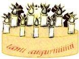 cartoline buon compleanno, candele, candeline, anni, regali, orecchie, tirare, discorso, brindisi, stappare, torta, crostata, festa
