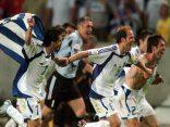 cartolina trionfo greco, Turno, semifinali, vittoria, festa